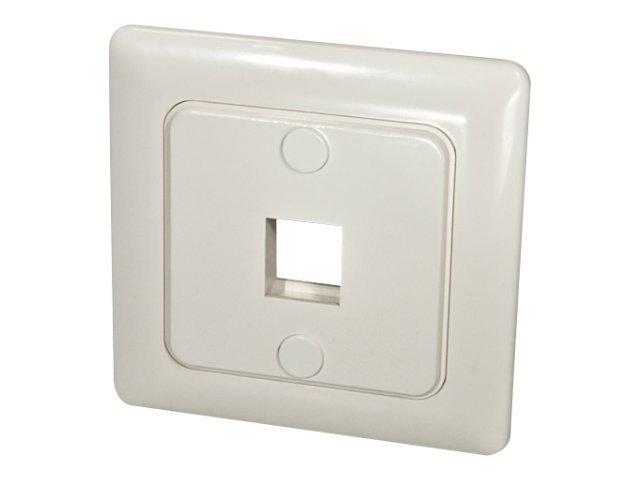 LINDY - Ausgang - geeignet für Wandmontage - weiss - 1 Anschluss - für P/N: 60546