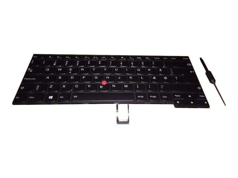 Chicony CS13T - Ersatztastatur Notebook - mit Trackpoint - hinterleuchtet - Isländisch - FRU, CRU