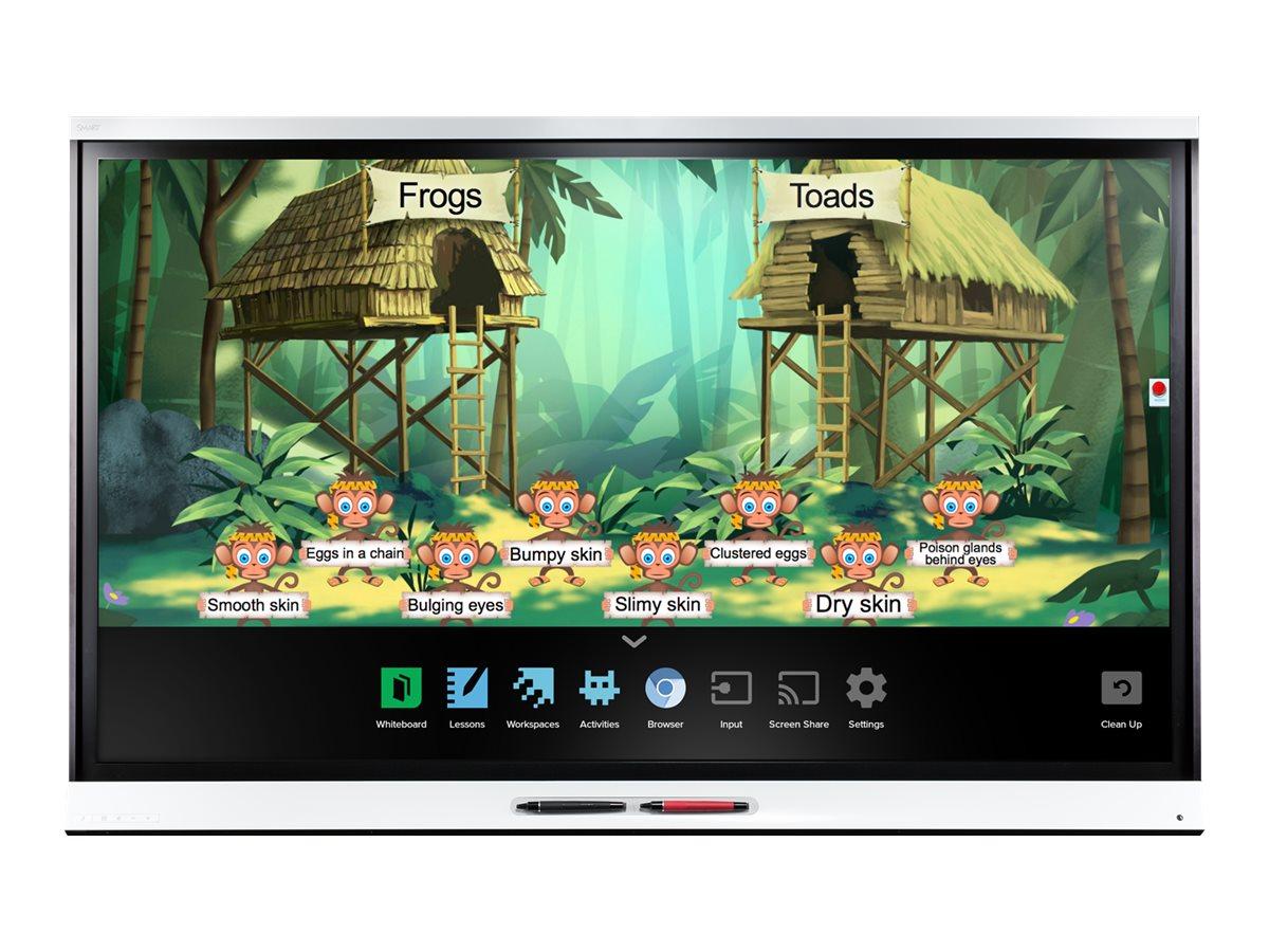 SMART Board 6000 series with iQ SBID-6265 - Interaktives Whiteboard mit LCD Anzeige - Multi-Touch (8-Punkt) - Digital Vision Tou