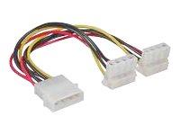 InLine - Netz-Splitter - interne Stromversorgung, 4-polig (W) bis interne Stromversorgung, 4-polig (M) - 20 cm
