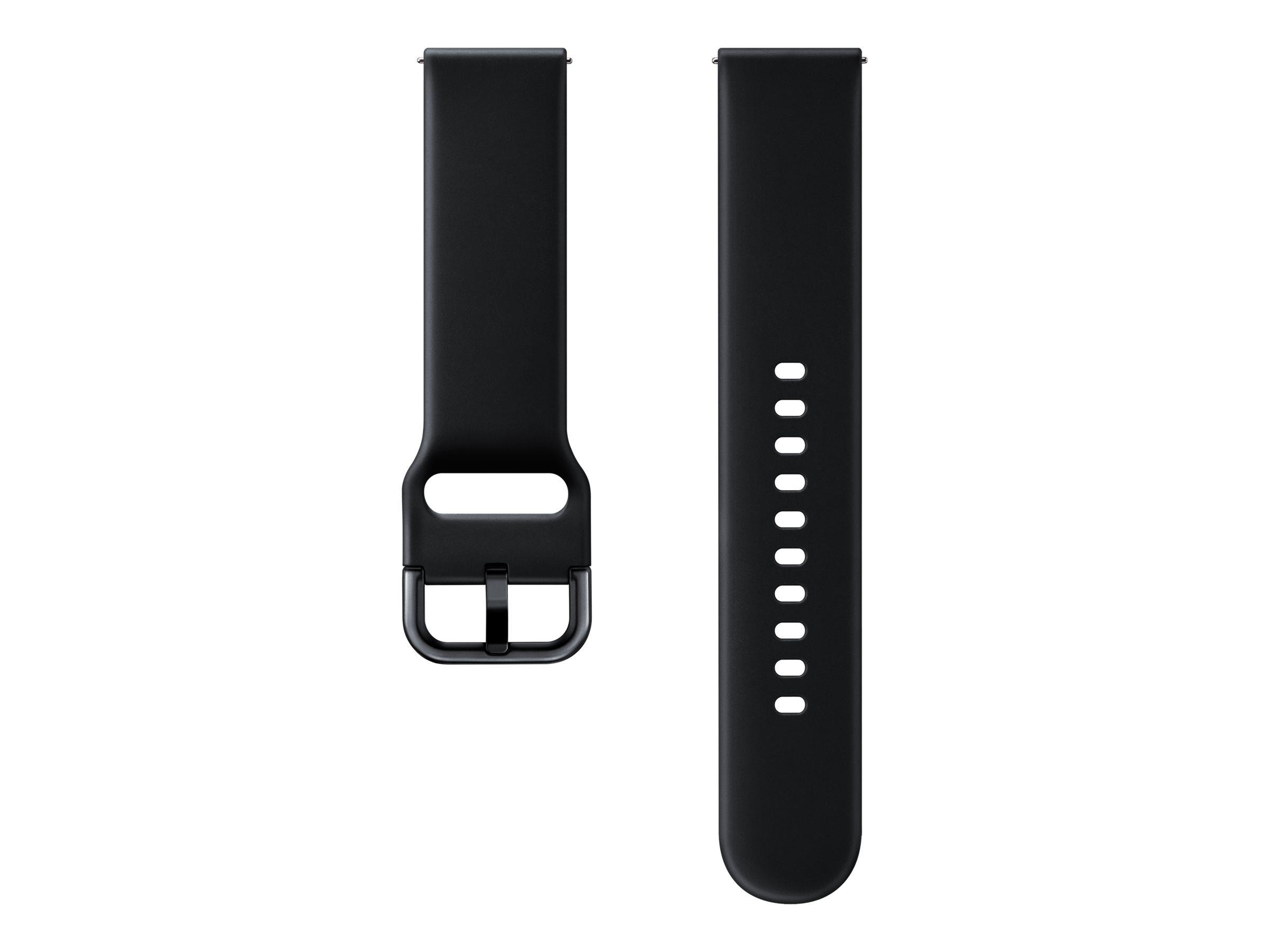Samsung Sport Strap ET-SFR50 - Uhrarmband - Schwarz - für Samsung Galaxy Watch Active
