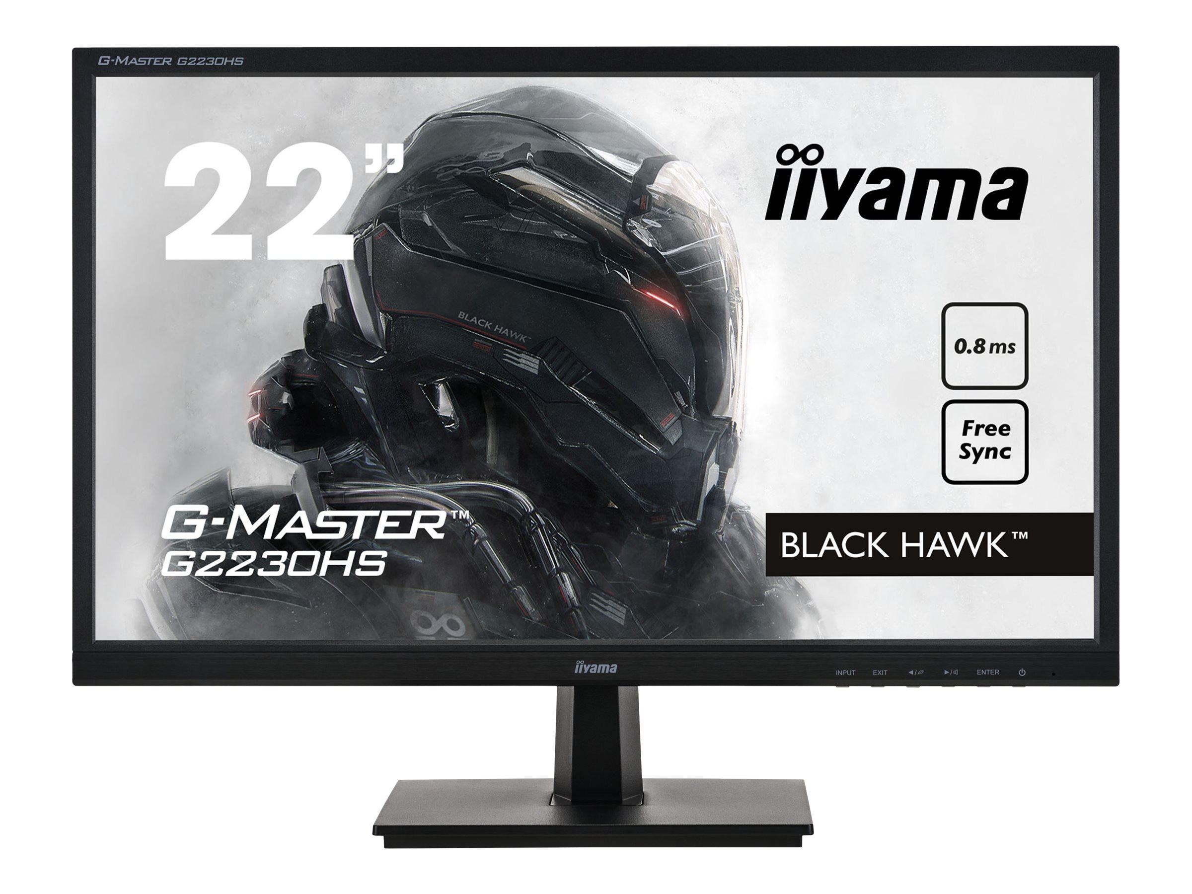 iiyama G-MASTER Black Hawk G2230HS-B1 - LED-Monitor - 55.9 cm (22