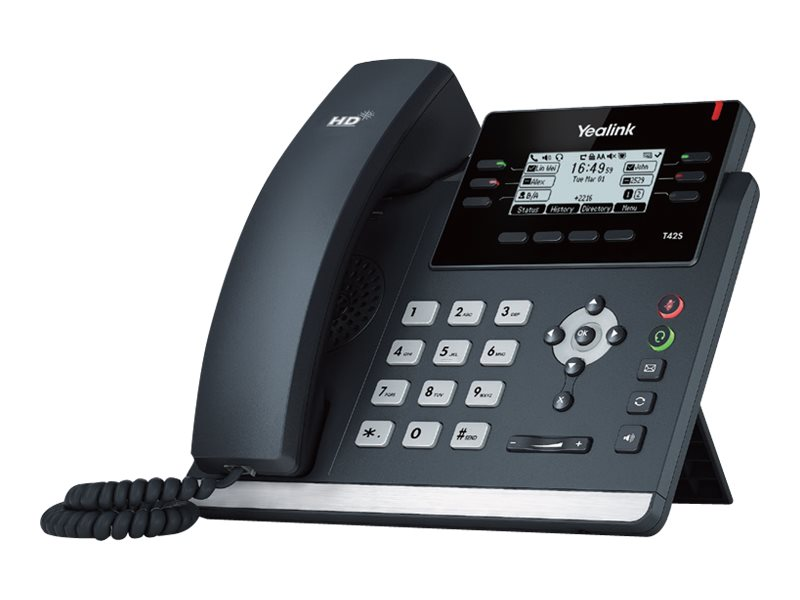 Yealink Skype for Business HD IP Phone T42S - Skype for Business Edition - VoIP-Telefon - SIP, SIP v2