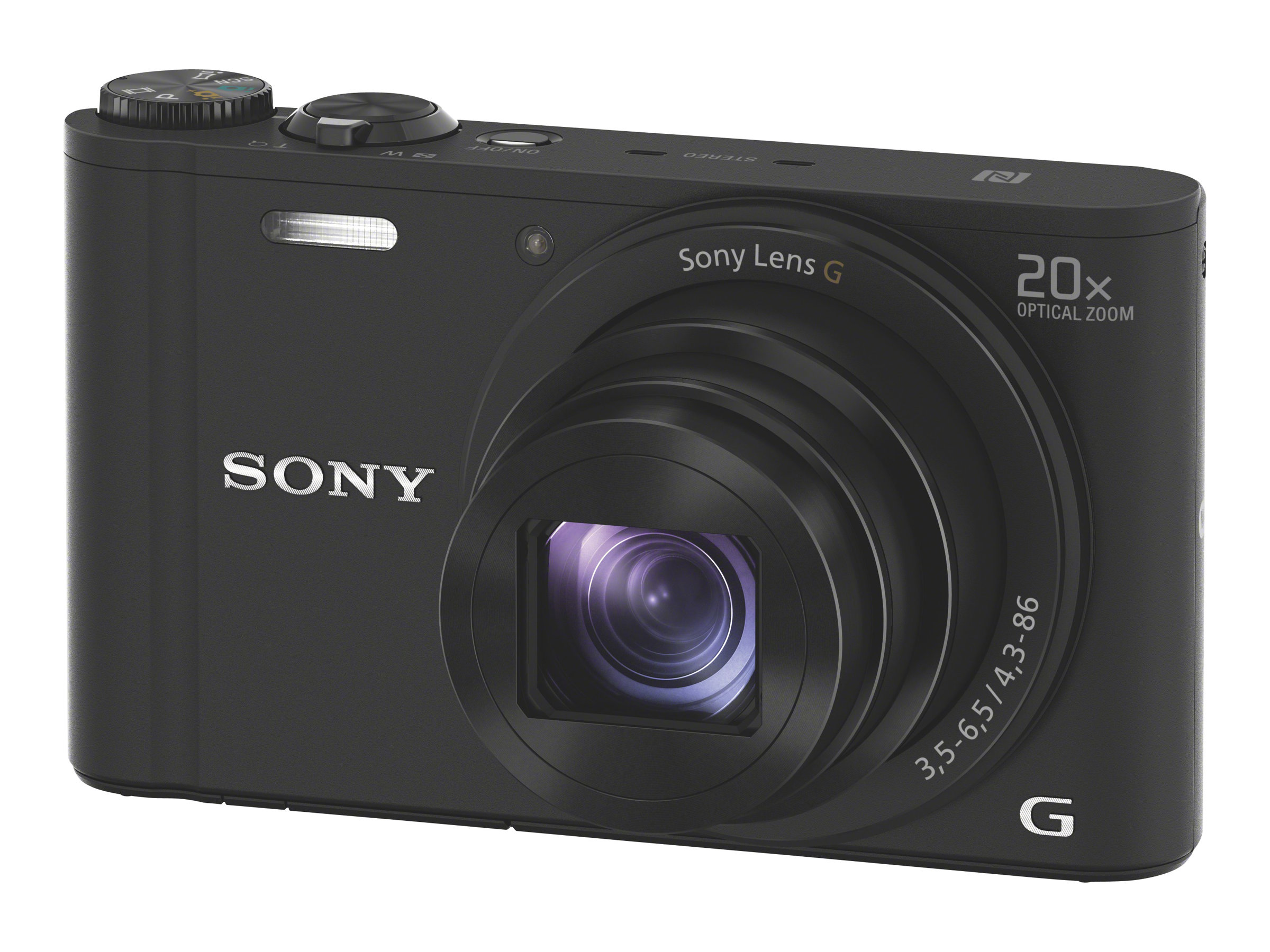Sony Cyber-shot DSC-WX350 - Digitalkamera - Kompaktkamera - 18.2 MPix - 20x optischer Zoom - Wi-Fi, NFC