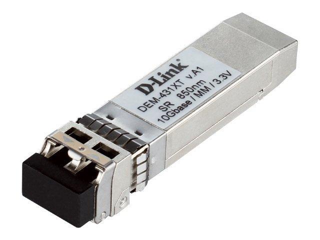 D-Link DEM 431XT - SFP+-Transceiver-Modul - 10 GigE - 10GBase-SR - bis zu 300 m - für D-Link Data Center 10; DGS 3630; DXS 1100,