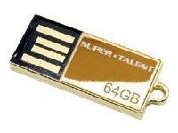 Super Talent Pico Series C - USB-Flash-Laufwerk - 64 GB - USB 2.0 - Gold