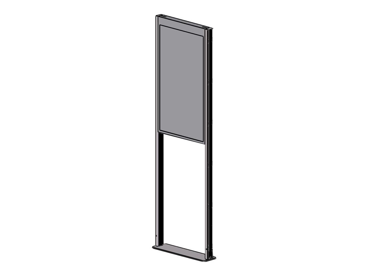 Peerless-AV SmartMount Floor mount DS-OM46ND-FLOOR - Aufstellung für LCD-Display - mattschwarz - Bildschirmgrösse: 116.8 cm (46