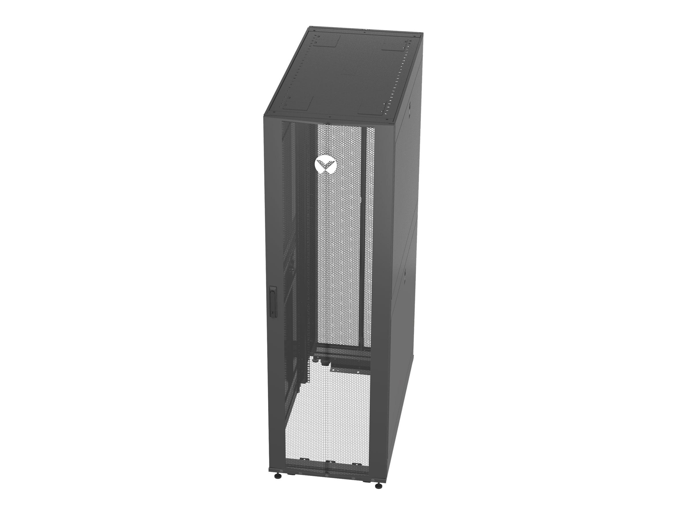 Vertiv VR - Schrank - Netzwerkschrank - Schwarz, RAL 7021 - 42HE - 48.3 cm (19