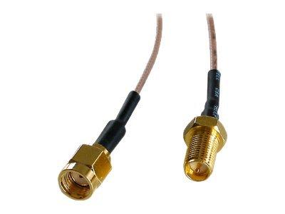 Lindy - Antennenverlängerungskabel - RP-SMA (M) bis RP-SMA (W) - 2 m - Koax - RG-178