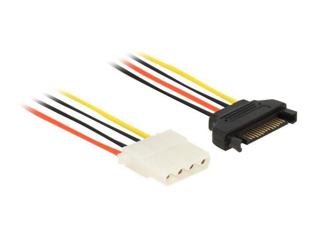 DeLOCK - Netzteil - interne Stromversorgung, 4-polig (W) bis SATA-Stromstecker (M) - 20 cm