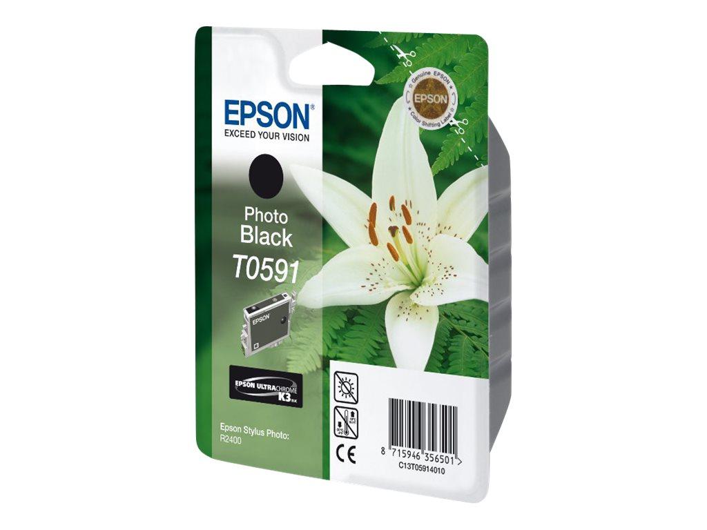 Epson T0591 - 13 ml - Photo schwarz - Original - Blister mit RF- / aktustischem Alarmsignal - Tintenpatrone
