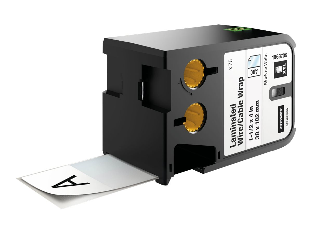 DYMO XTL - Polyester - permanenter Klebstoff - Schwarz auf Weiss - 38 x 102 mm 75 Etikett(en) Band - für XTL 500