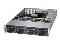 Supermicro SuperStorage Server 6028R-E1CR12T - Server - Rack-Montage - 2U - zweiweg - RAM 0 GB