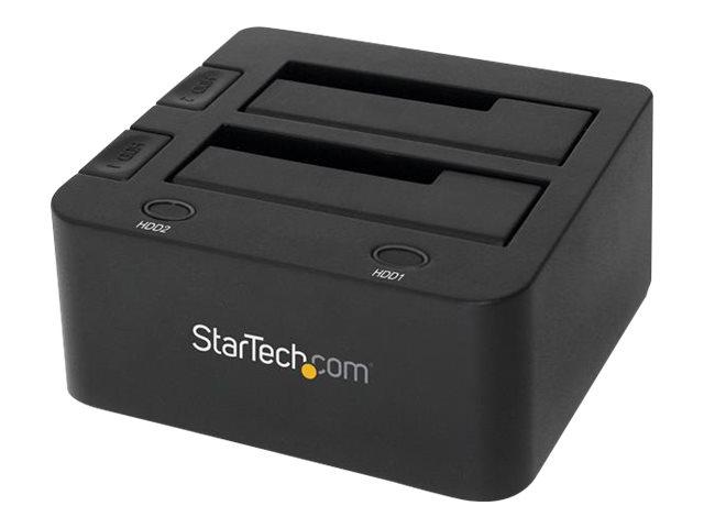 StarTech.com 2-fach USB 3.0 Festplatten Dockingstation mit UASP für 2,5/3,5 SSD / HDD - Serial-ATA USB Dual Bay Dockingstation -