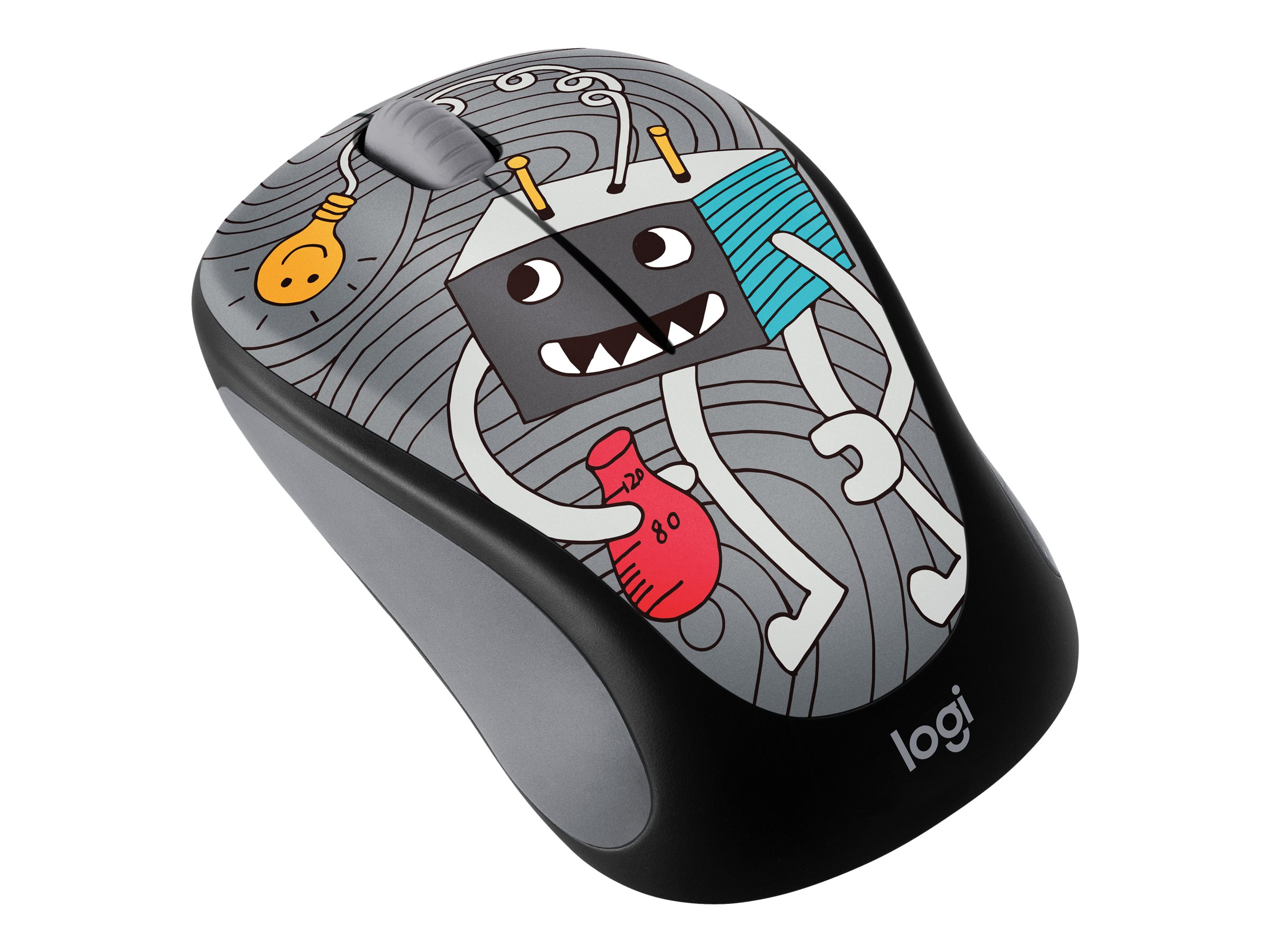 Logitech Doodle Collection M238 - Maus - optisch - 3 Tasten - kabellos - 2.4 GHz