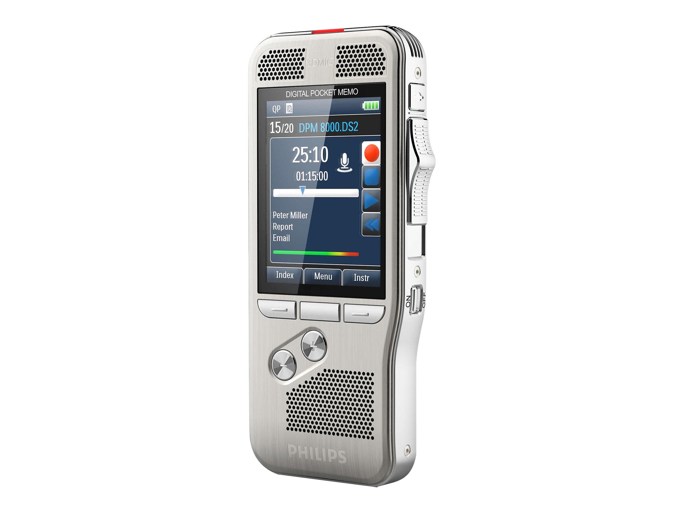 Philips Pocket Memo DPM8100 - Voicerecorder - 200 mW - 4 GB