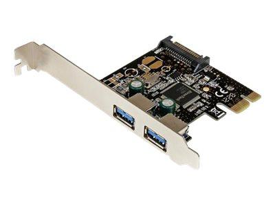 StarTech.com 2 Port USB 3.0 SuperSpeed PCI Express Schnittstellenkarte mit SATA Stromanschluss - 2-fach USB 3.0 PCIe Controller
