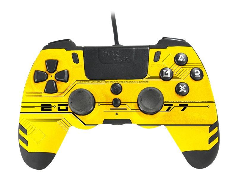 Steelplay MetalTech - Game Pad - kabelgebunden - Yellow Hack - für PC, Sony PlayStation 3, Sony PlayStation 4