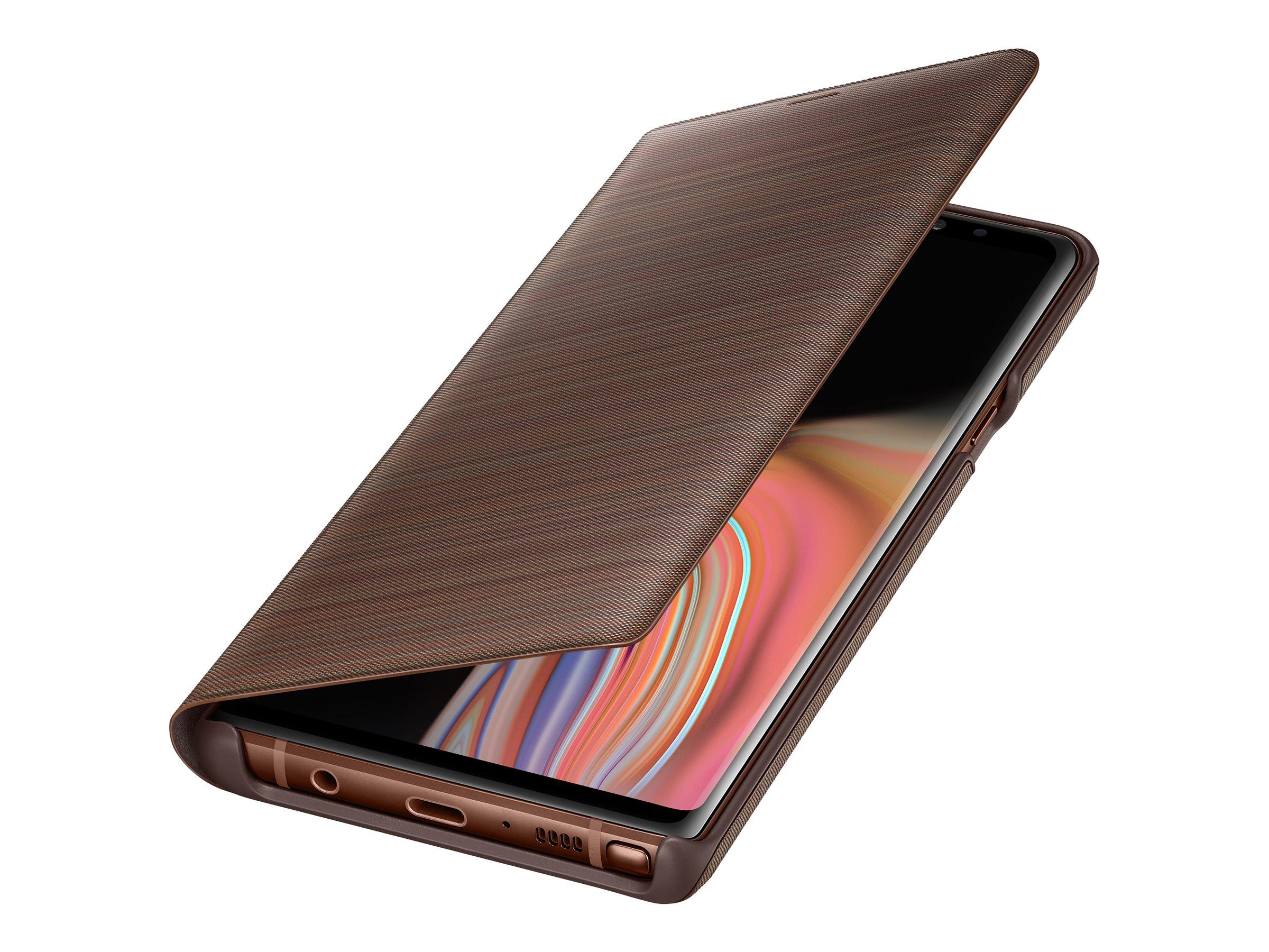Samsung LED View Cover EF-NN960 - Flip-Hülle für Mobiltelefon - braun - für Galaxy Note9