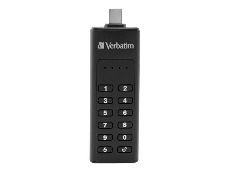 Verbatim Keypad Secure - USB-Flash-Laufwerk - verschlüsselt - 128 GB - USB-C 3.1