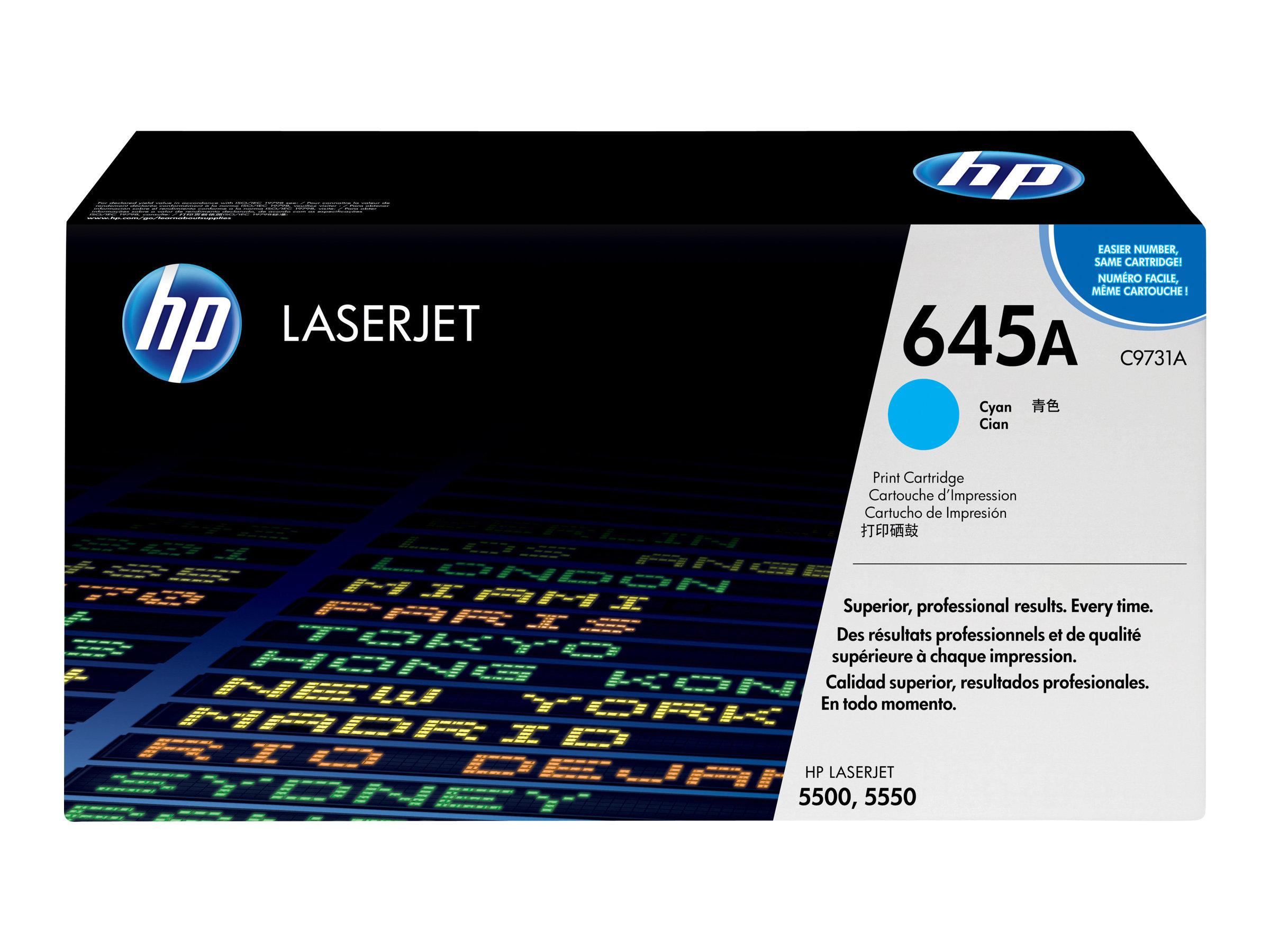 HP 645A - Cyan - Original - LaserJet - Tonerpatrone (C9731A) - für Color LaserJet 5500, 5550