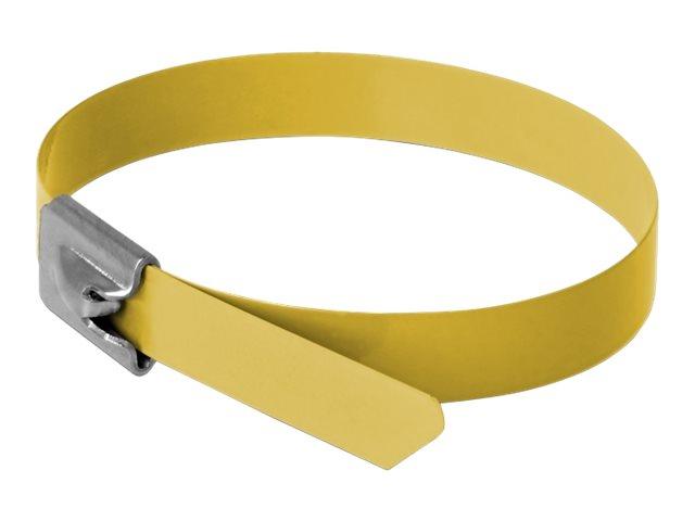 Delock - Kabelbinder - 40 cm - Gelb (Packung mit 10)