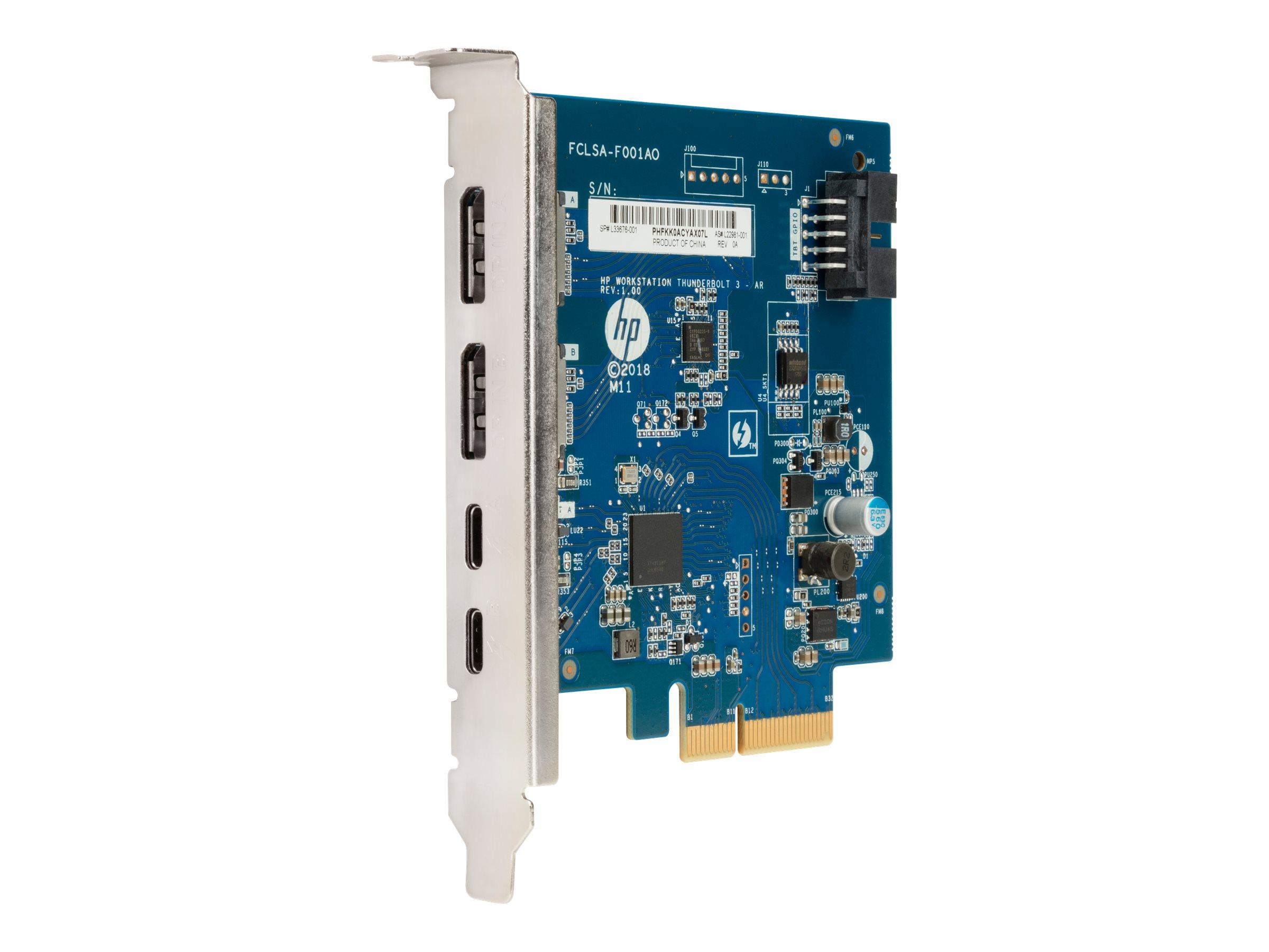 HP Dual Port Add-in-Card - Thunderbolt-Adapter - PCIe - Thunderbolt 3 x 2 - für Workstation Z1 G5 Entry