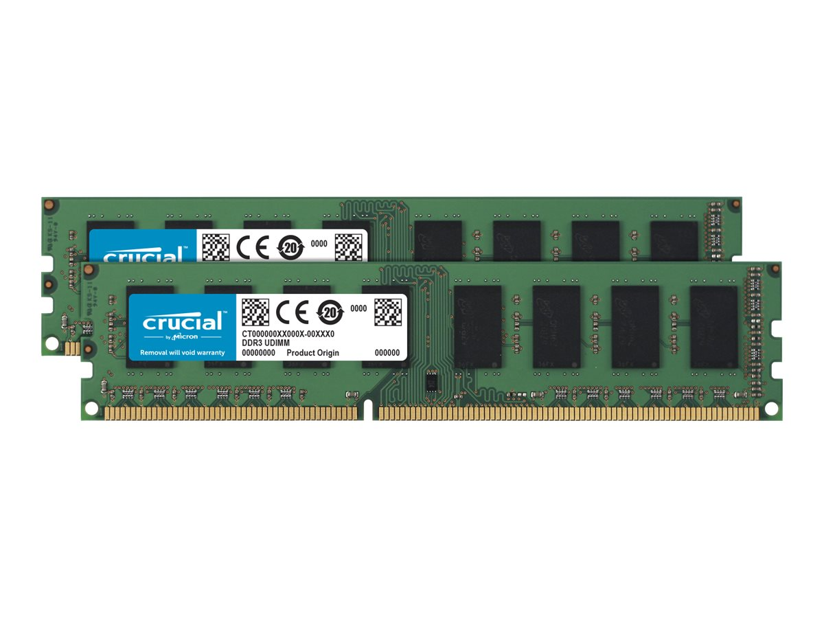 Crucial - DDR3L - 16 GB: 2 x 8 GB - DIMM 240-PIN - 1600 MHz / PC3-12800 - CL11