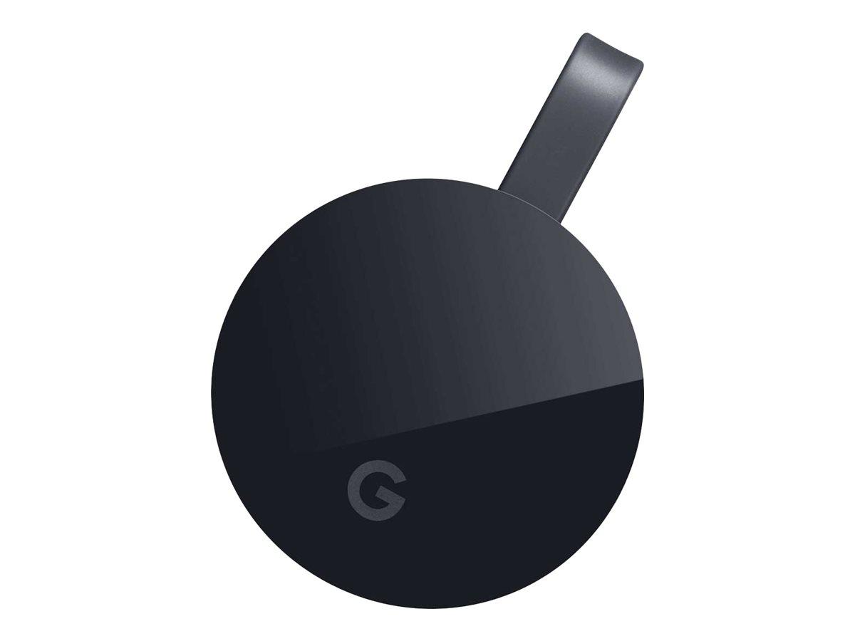 Google Chromecast Ultra - Digitaler Multimedia-Receiver - 4K - HDR - Schwarz