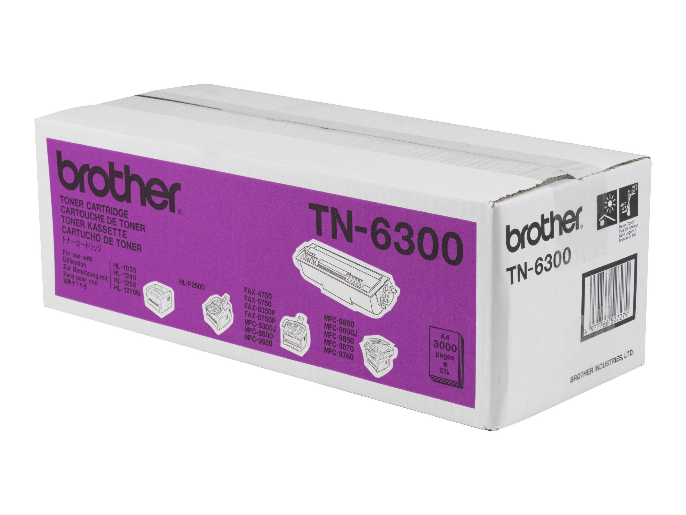 Brother TN6300 - Schwarz - Original - Tonerpatrone - für Brother DCP-1200, HL-1230, 1240, 1250, 1270, 1430, 1440, 1450, 1470, P2