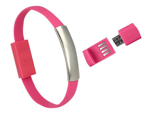 DeLOCK USB Armband - USB-Kabel - Micro-USB Typ B (M) bis USB (M) - USB 2.0 - 22 cm - pink