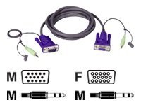 ATEN 2L-2402A - Video- / Audiokabel - HD-15 (VGA), Mini-Stecker (M) bis HD-15 (VGA), Mini-Stecker (M) - 1.8 m - für ATEN VS-0116