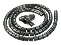 LINDY Spiral Cable Tidy - Flexible Kabelleitung - 5 m - Schwarz