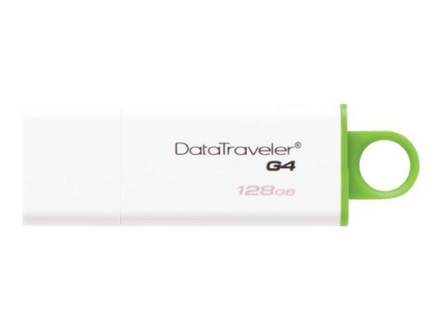 Kingston DataTraveler G4 - USB-Flash-Laufwerk - 128 GB - USB 3.0 - grün