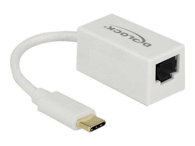 DeLock - Netzwerkadapter - USB 3.1 Gen 1 - Gigabit Ethernet x 1 - weiss