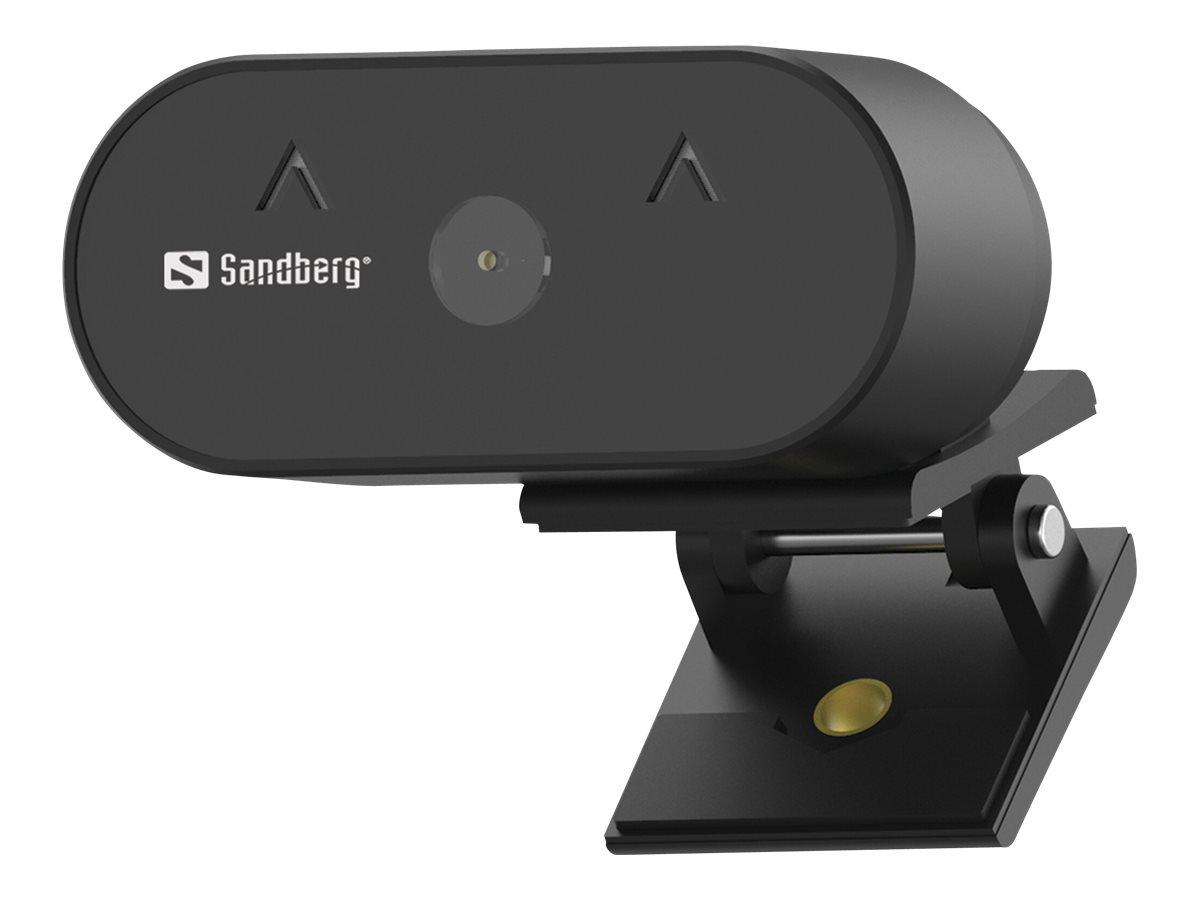 Sandberg USB Webcam Wide Angle 1080P HD - Web-Kamera - Farbe - 2 MP - 1920 x 1080 - 1080p
