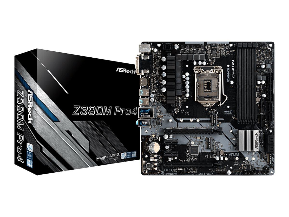 ASRock Z390M Pro4 - Motherboard - micro ATX - LGA1151 Socket - Z390 - USB 3.1 Gen 1, USB-C Gen2, USB 3.1 Gen 2