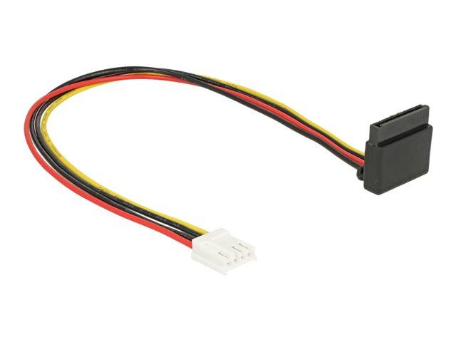 DeLOCK Floppy 4 pin female > SATA 15 pin female metal - Netzteil - 4-Pin-Mini-Stromversorgungsstecker (R) bis SATA-Stromstecker