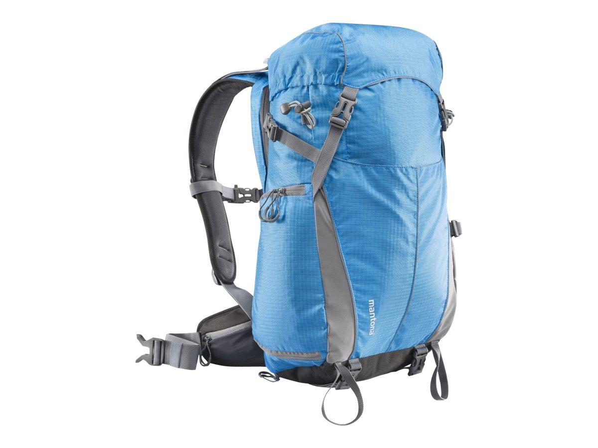 mantona Elements Outdoor - Rucksack für Kamera und Objektive - Nylon - Blau