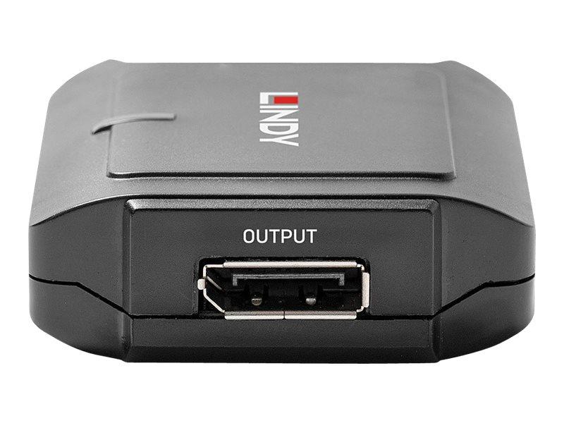LINDY - Repeater - 20-poliger DisplayPort / 20-poliger DisplayPort - bis zu 35 m