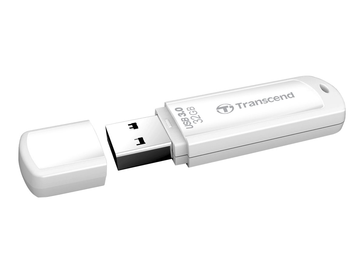 Transcend JetFlash 730 - USB-Flash-Laufwerk - 32 GB - USB 3.0 - weiss