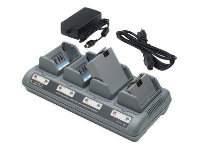 Zebra Quad Charger UCLI72-4 - Netzteil + Batterieladegerät - Europa - für Zebra RW 220, RW 420; QL 220, 220 Plus, 320, 320 Plus,