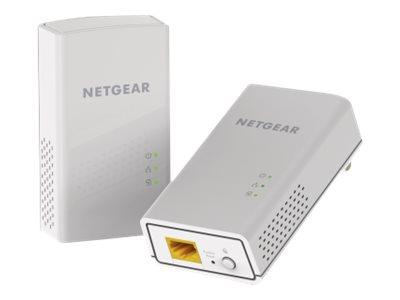 NETGEAR Powerline PL1000 - Bridge - GigE, HomePlug AV (HPAV) 2.0 - an Wandsteckdose anschliessbar (Packung mit 2)