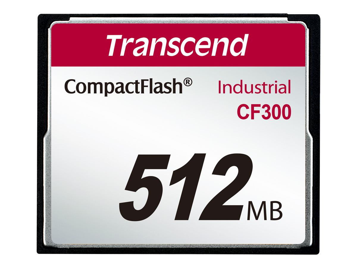 Transcend CF300 Industrial - Flash-Speicherkarte - 512 MB - 300x - CompactFlash