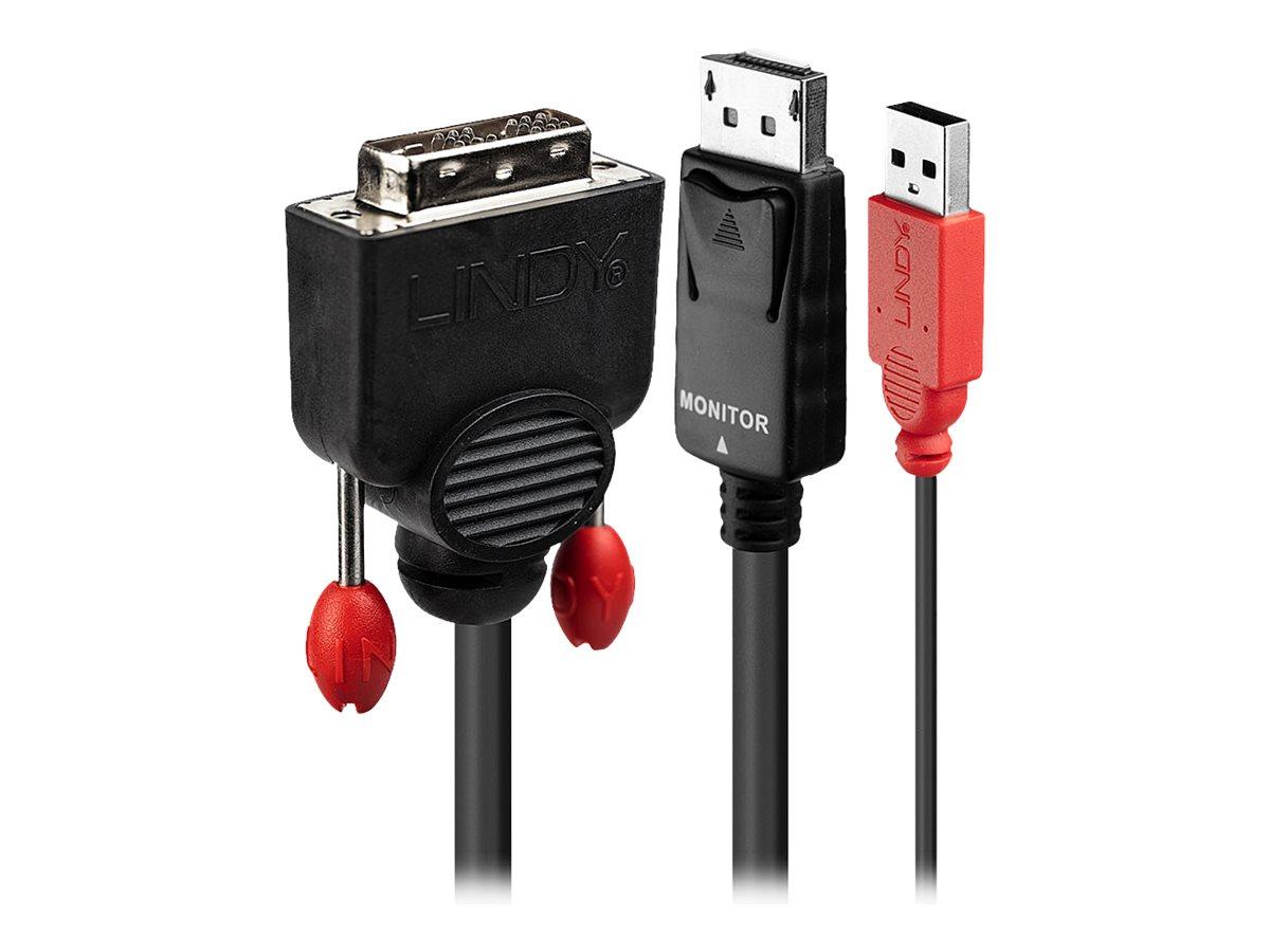 Lindy - Externer Videoadapter - DVI - DisplayPort - Schwarz