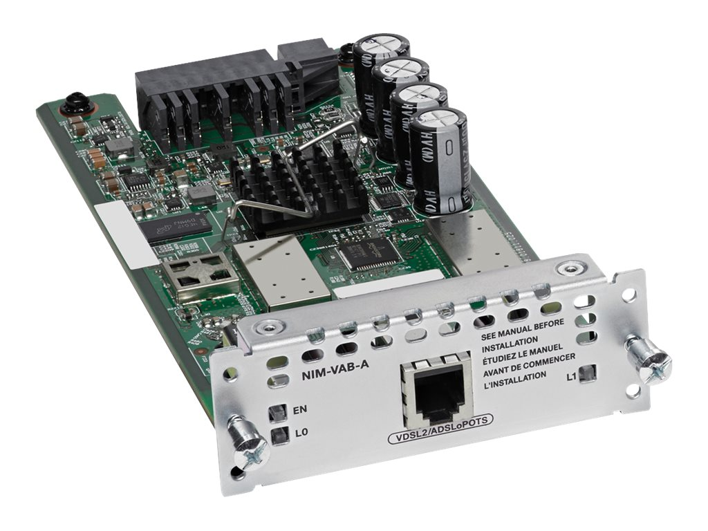 Cisco 1-port VDSL2/ADSL2+ over POTS with Annex A - DSL-Modem - Network Interface Module (NIM) - für Cisco 4451-X; Integrated Ser