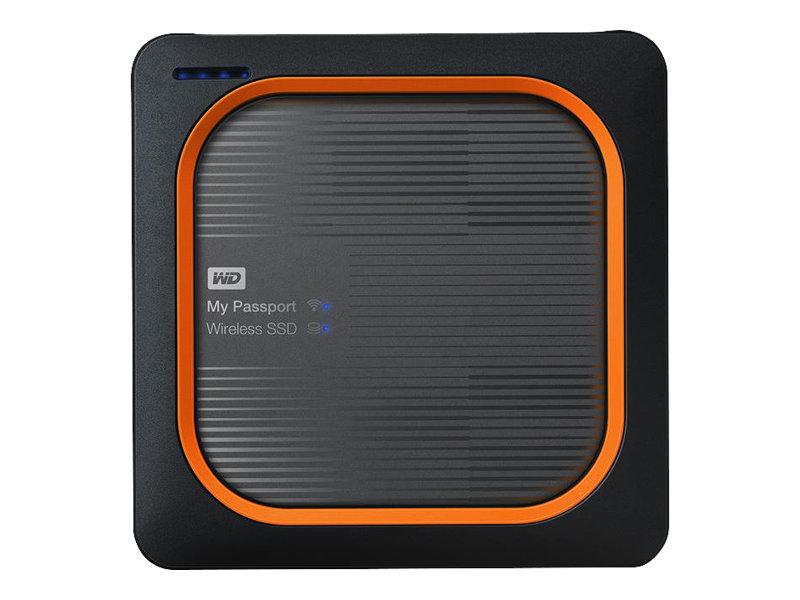 WD My Passport Wireless SSD WDBAMJ0020BGY - Mobiler Wireless-Speicher - 2 TB - SSD 2 TB x 1 - USB 3.0 / 802.11ac