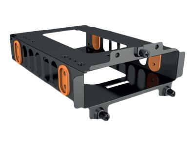be quiet! - Gehäuse für Speicherlaufwerke - Kapazität: 1 Festplattenlaufwerk oder 2 SSD - Schwarz, orange