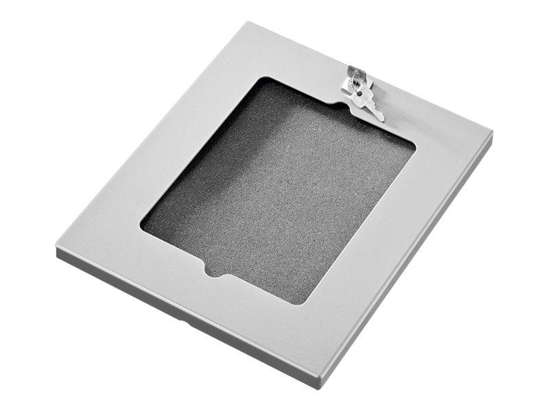 HAGOR TSG - Montagekomponente (Gehäuse) für Tablett - verriegelbar - Silber - Montageschnittstelle: 100 x 100 mm - Wandmontage