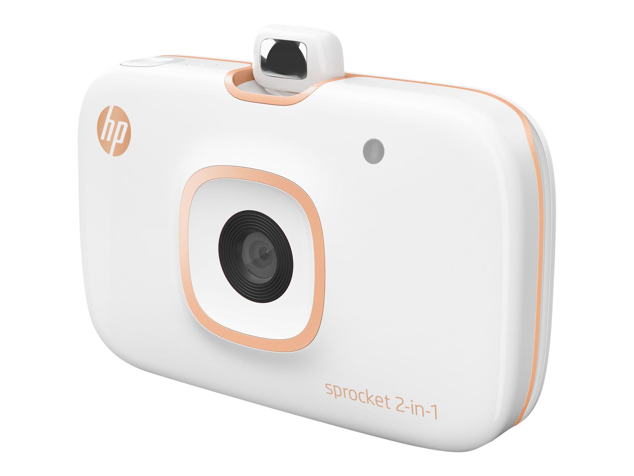 HP Sprocket 2-in-1 - Digitalkamera - Kompaktkamera mit PhotoPrinter - 5.0 MPix - Bluetooth - weiss